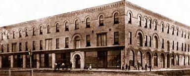 Click to see larger photo of the Balmoral Block 1904 corner of Hwys 21 & 84