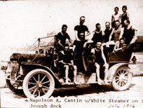 Click to see larger photo of the Cantin Family White Steamer Car
